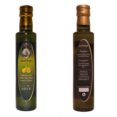 olio extravergine aromatizzato limone sanfilippo