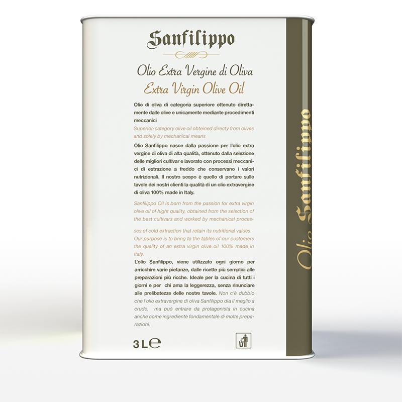 Olio extravergine di oliva medium fruity 3 litri retro