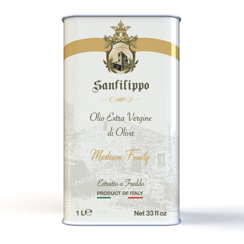 Olio extravergine di oliva medium fruity 1 litro fronte