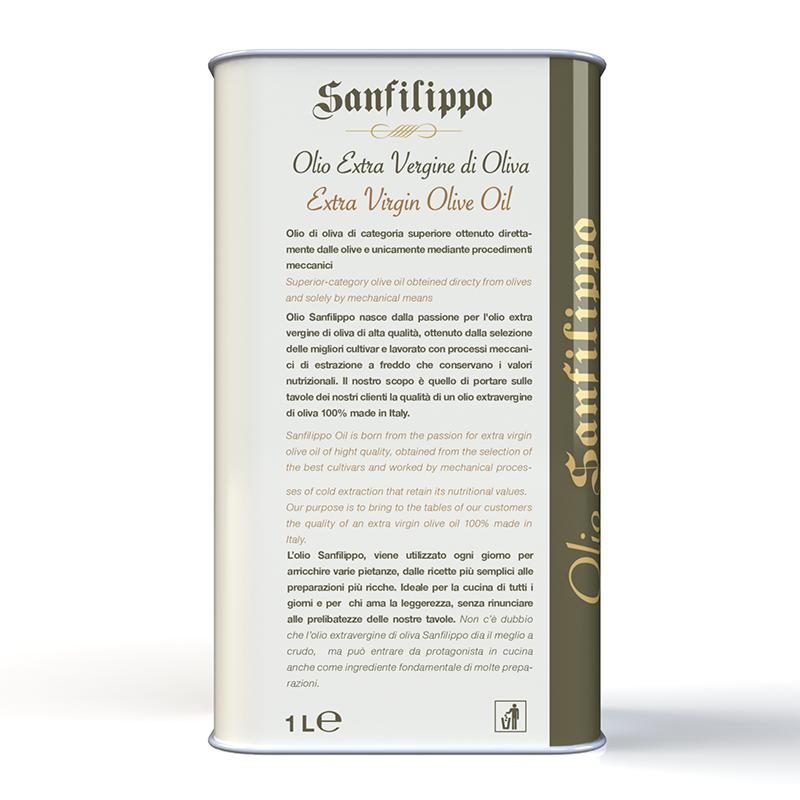 Olio extravergine di oliva medium fruity 1 litro retro