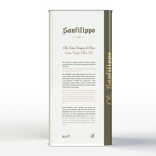 Olio extravergine di oliva medium fruity 5 litri retro