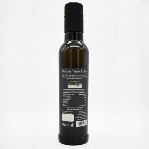 olio extravergine di oliva intense fruity 0,25 litri retro